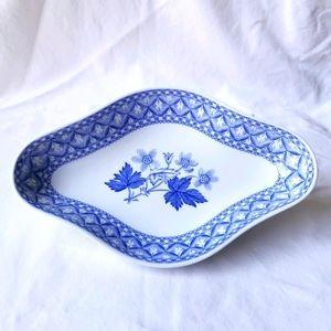 VTG Spode Blue Geranium Trinket Jewelry dish
